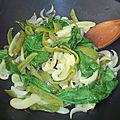 Tagliatelles aux légumes verts et jaunes