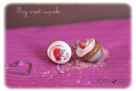 Boucles d'oreilles fraise