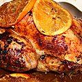 Poulet roti a l'orange et aux epices