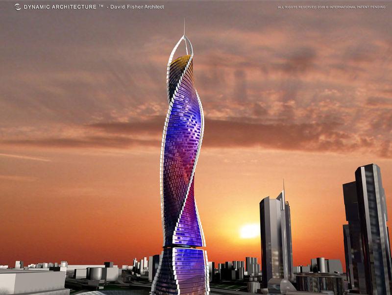 la tour tournante dynamic tower de l 39 architecte visionnaire david fisher alain r truong. Black Bedroom Furniture Sets. Home Design Ideas