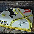 Gateau police scientifique - les experts...