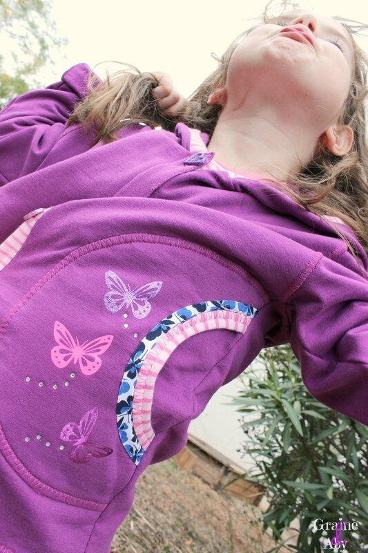gilet papillons détail poche