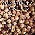 Pois chiches grillés et croustillants