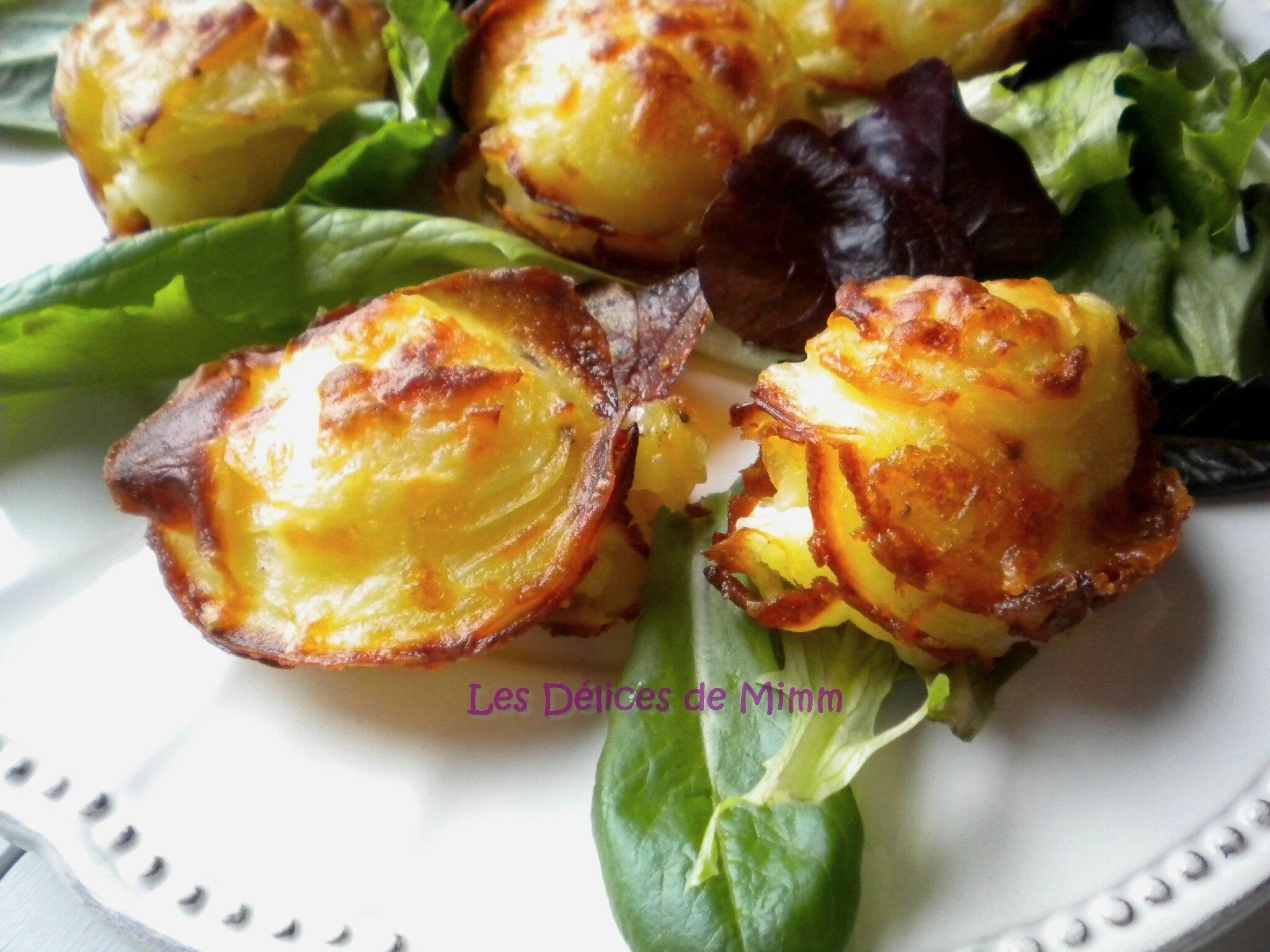 Petits croustillants de pommes de terre au parmesan
