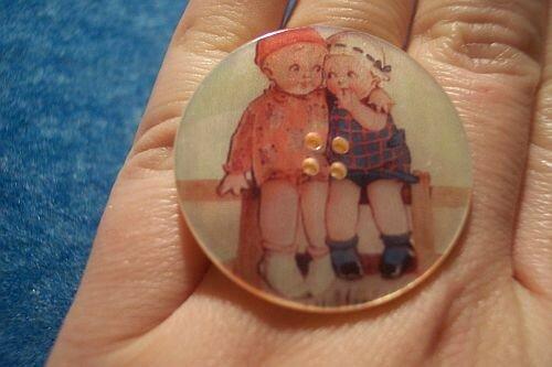 Bague vintage petits enfants