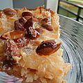 Tarte poire/ amandes (sans farine & sans oeufs)