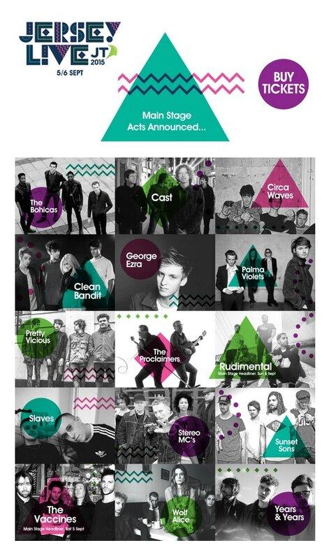 Jersey Live Festival 2015 line-up