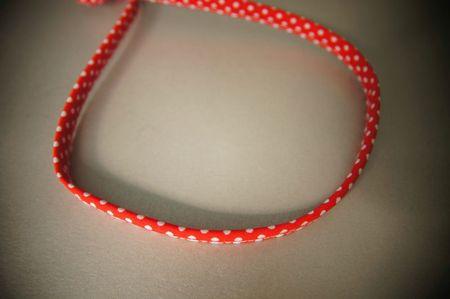headband rouge à pois