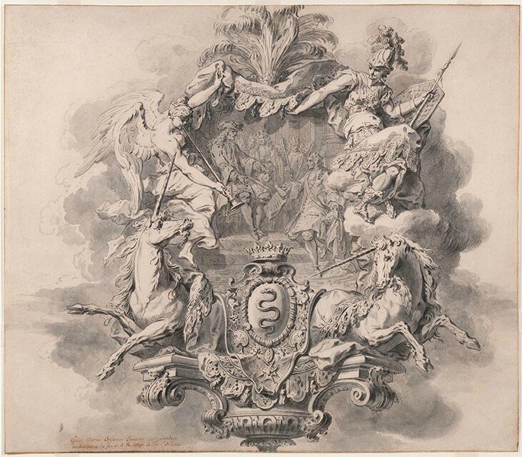 Drawings by Gilles-Marie Oppenord and Juste-Aurèle Meissonnier on view at Waddesdon Manor