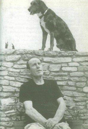 René Char et chien