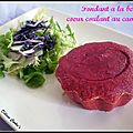Fondant  la betterave, coeur coulant au camembert