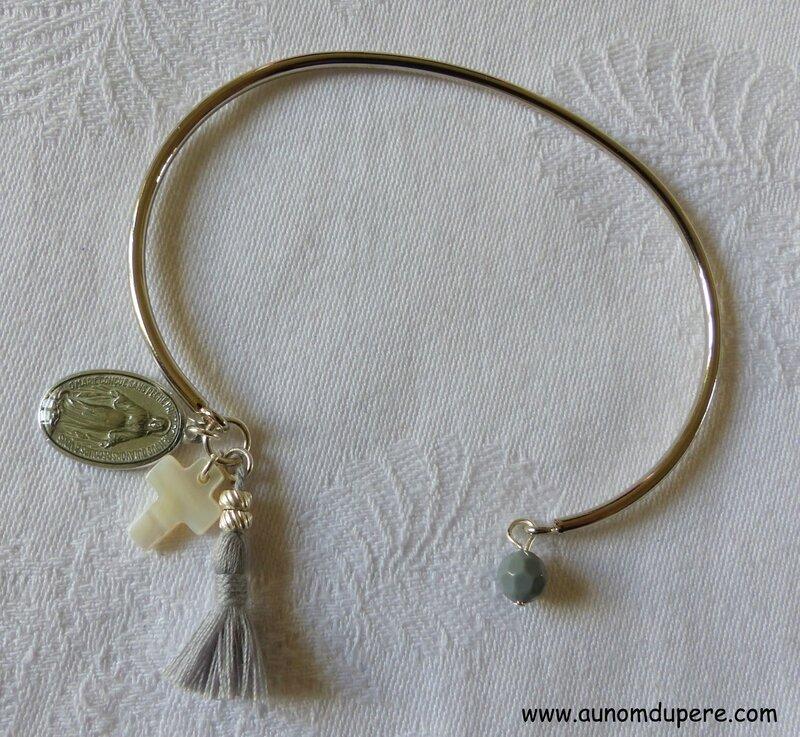 Bracelet de Nazareth (gris et argenté) - 16 €