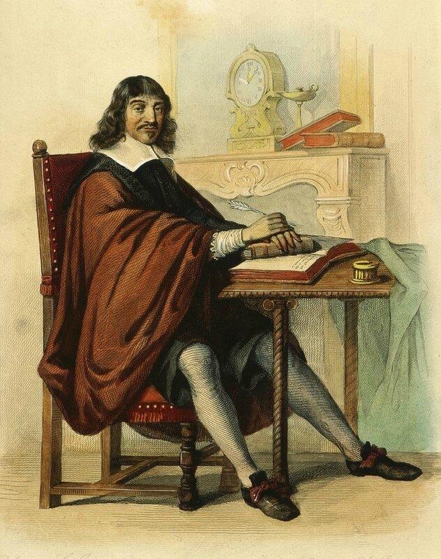 Descartes à son bureau