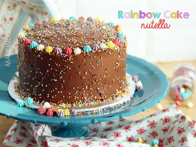rainbow cake au nutella - made in cooking