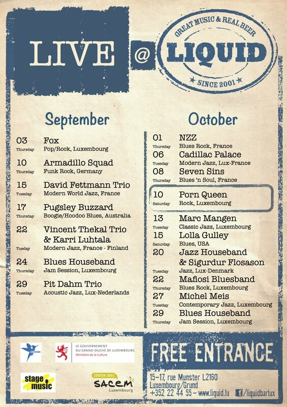 Liquid gig schedule_September-October_2015_flyer