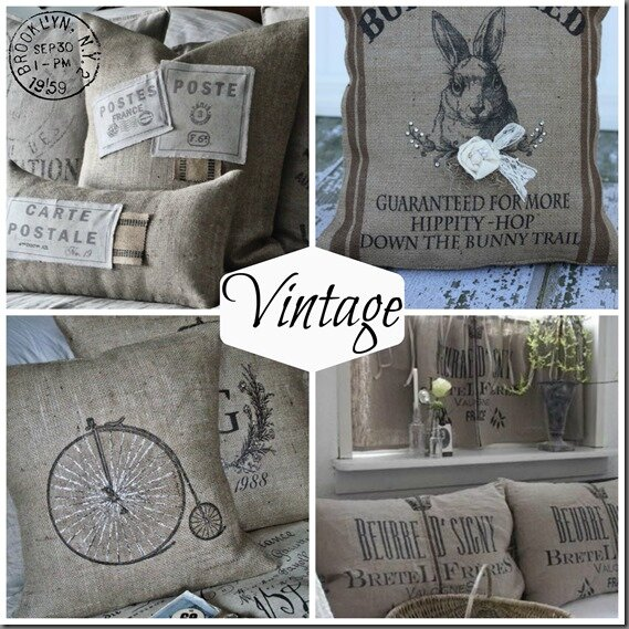 montage coussin vintage