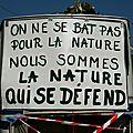 nous sommes la nature qui se défend