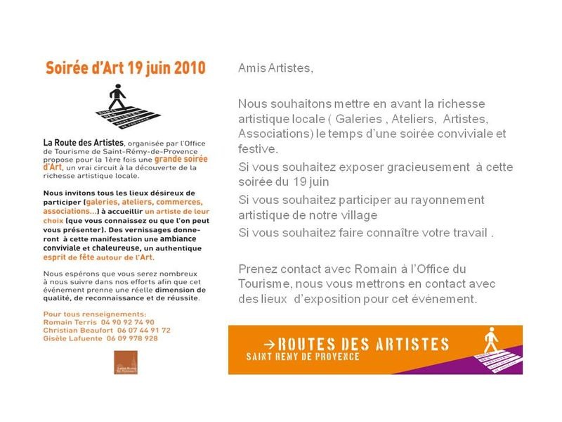 Festival d 39 art contemporain infos office du tourisme - Office du tourisme st remy de provence ...