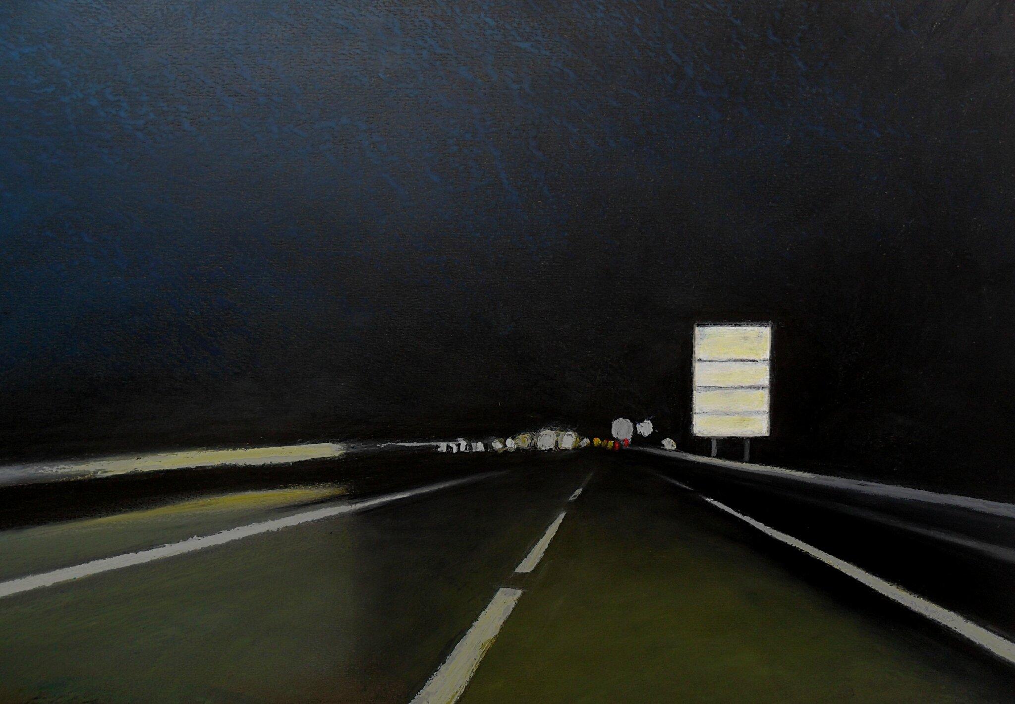 K'nowhere #27, 2014, pastel à l'huile. 62 x 42 cm.