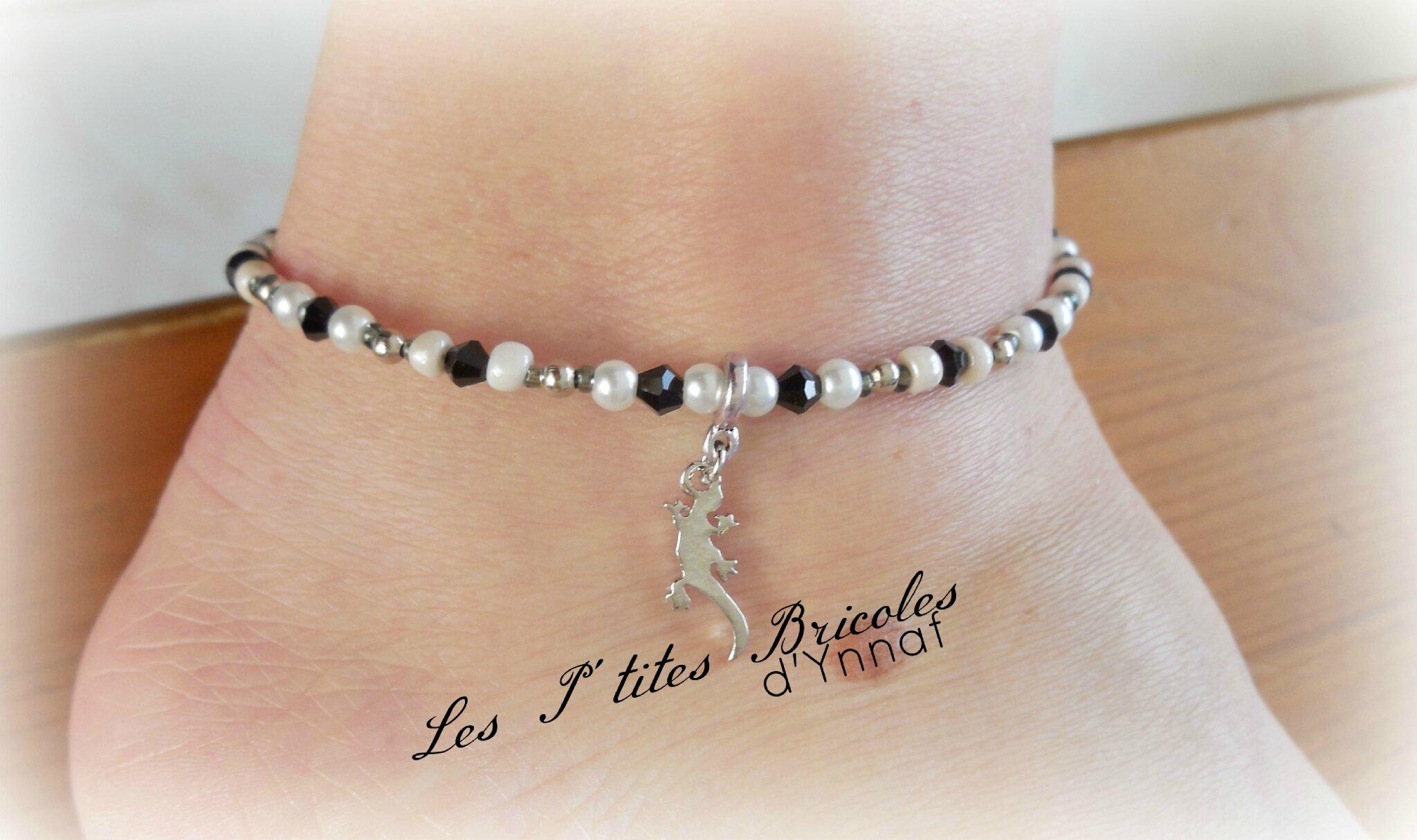 bracelet cheville cable