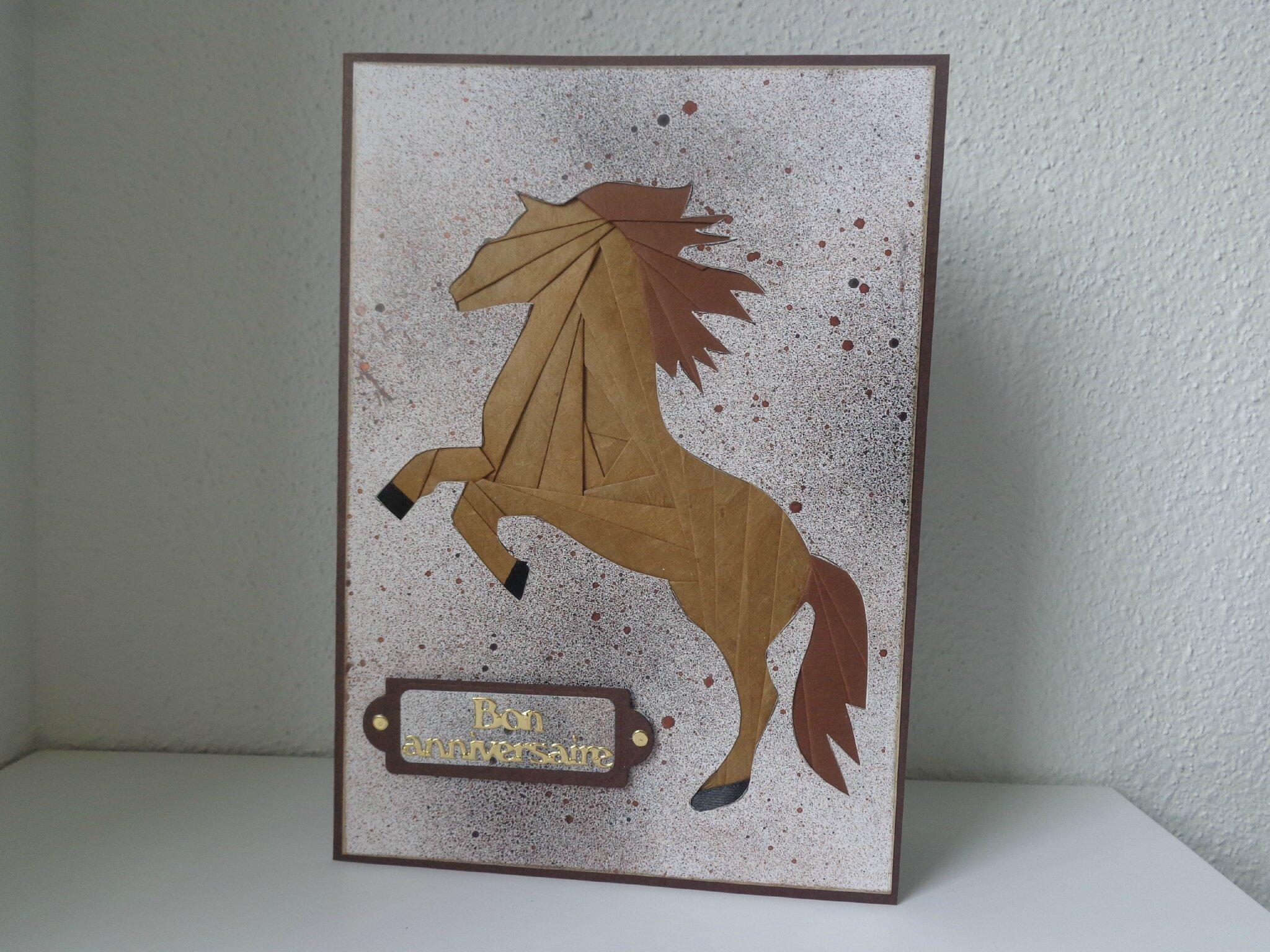 "Carte cheval ""iris folding"""