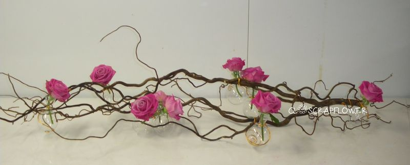Id e de d co de table closcrapflower for Deco avec branche de bois