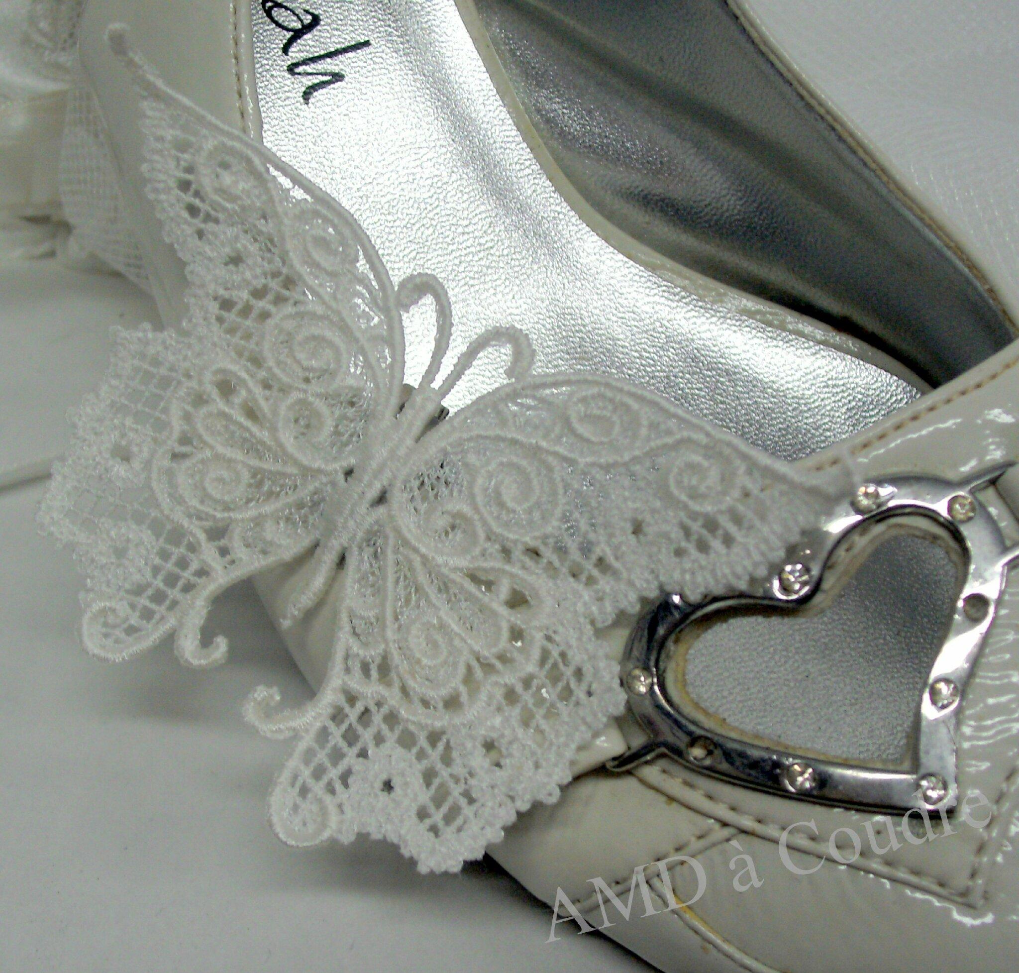 bijoux de chaussures pour mariées papillon blanc broderie amd a coudre (14)