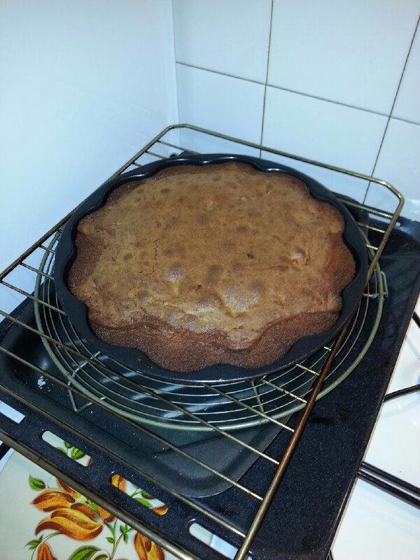 Gâteau chocolat, pomme, cannelle