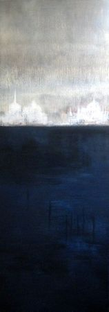 Lagune 2011 acrylique sur toile 120x 40
