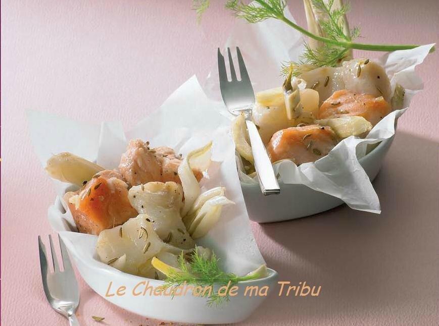 Papillotes saumon cabillaud au fenouil le chaudron de ma for Cabillaud fenouil