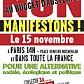La réponse à françois hollande et au medef : c'est dans la rue, le 15 novembre !