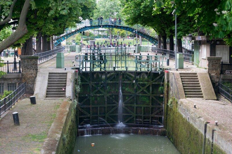 Ecluse sur le canal Saint-Martin