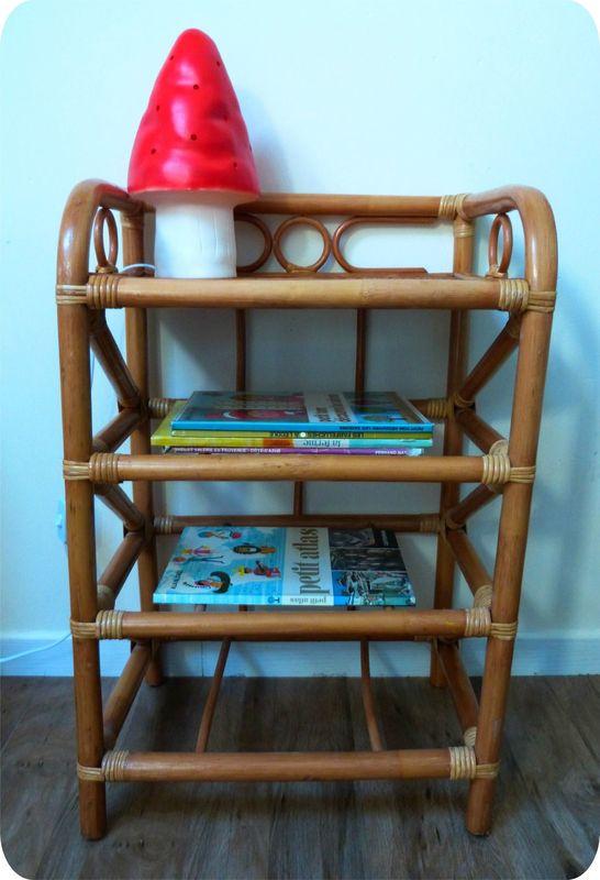 petit meuble en rotin - madame ki et ses vintageries