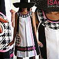 Imprimé graphique pied de poule géant tendance mode printemps été 2014 : la robe trapèze à l'honneur !