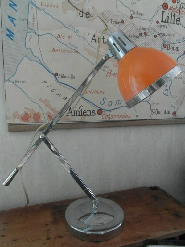 lampe bureau orange