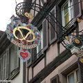 Enseigne d'une Charcuterie à Colmar