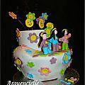 Gâteau Flower power hippie cake côté
