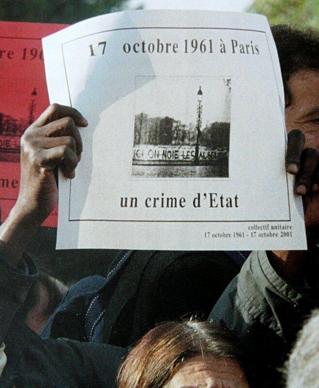 2001-commemoration 40 ans du 17 octobre 1961