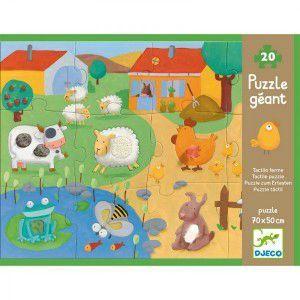 Boutique jeux de société - Pontivy - morbihan - ludis factory - Djeco puzzle géant tactiloferme