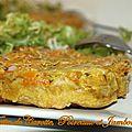 Tatin de carottes , poireaux et jambon