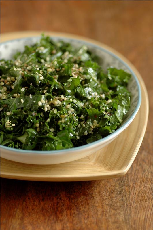 Salade chou kale mariné
