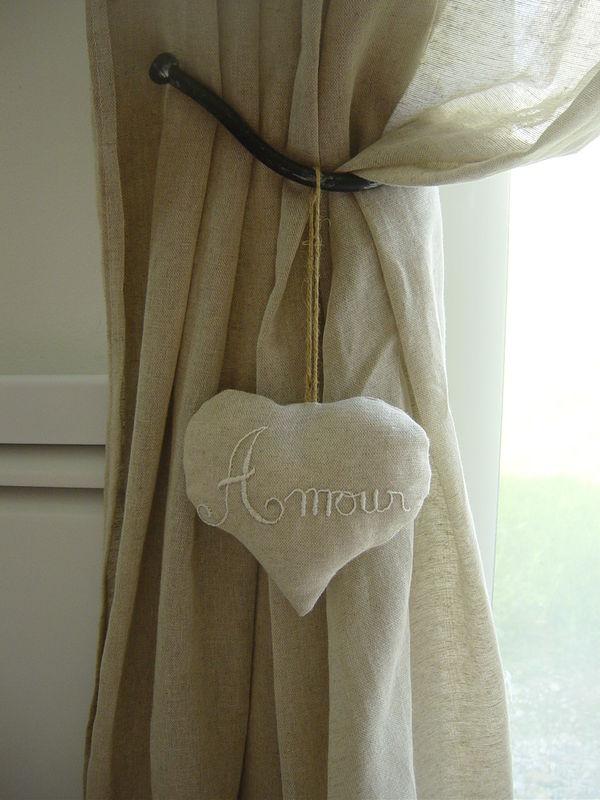 Rideaux s jour couture 44 - Double rideaux en lin ...