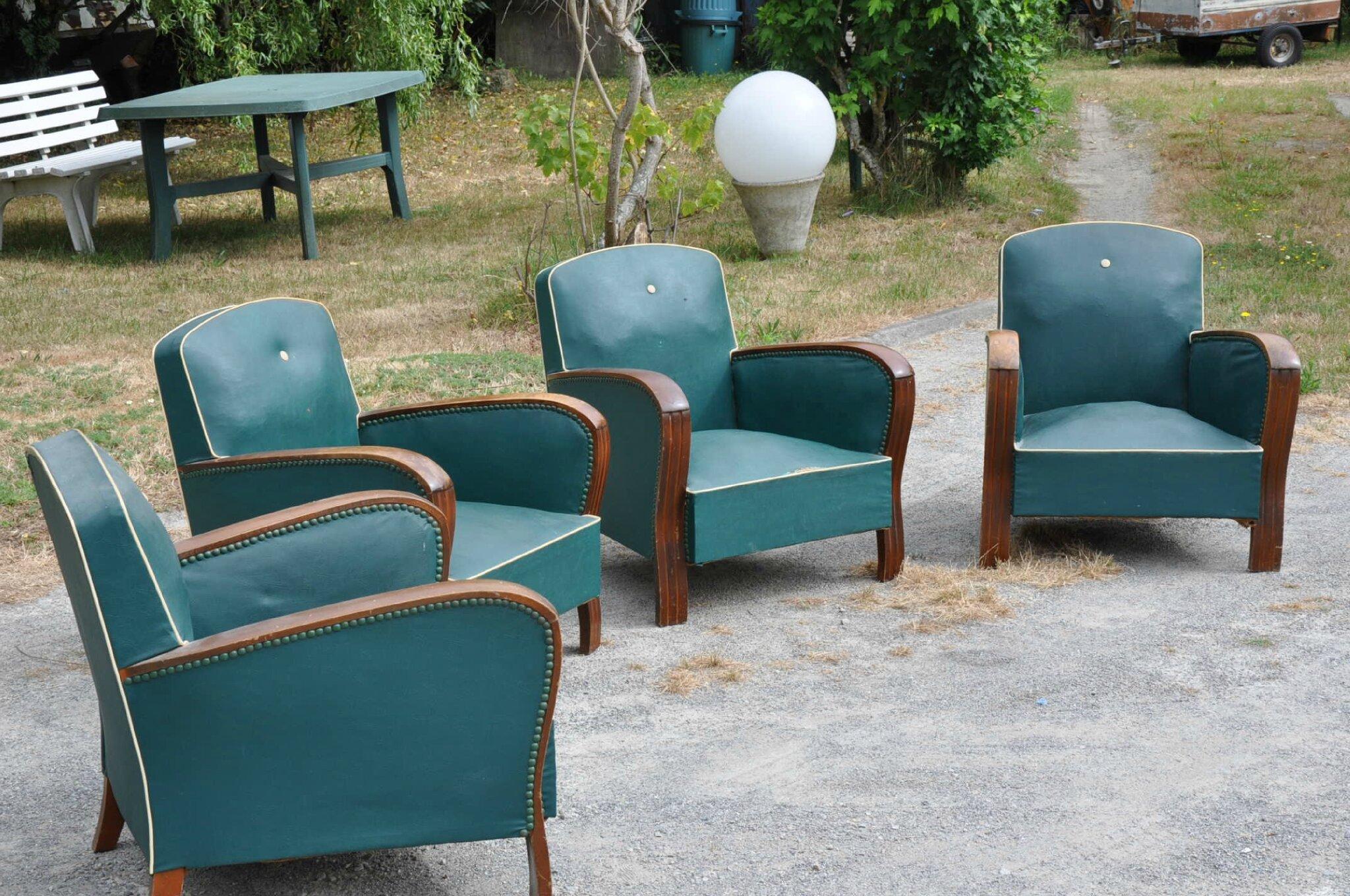 fauteuils club annees 50 articles vendus antiquit s du vingti me. Black Bedroom Furniture Sets. Home Design Ideas