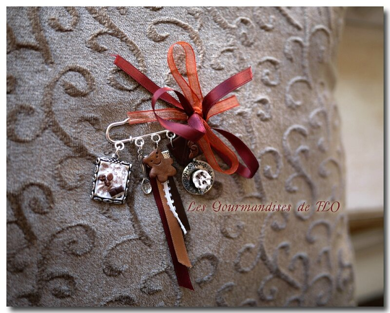 broche ours-capuccino-chocolat