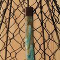 pendentif capuchon turquoise