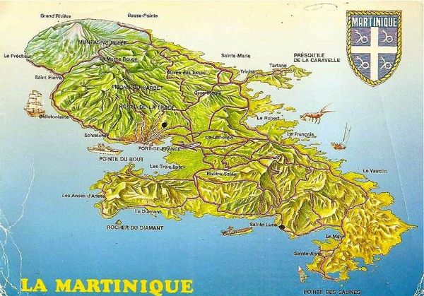 Martinique carte