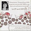 L'association scrap à fleurs (42) organise une journée scrap