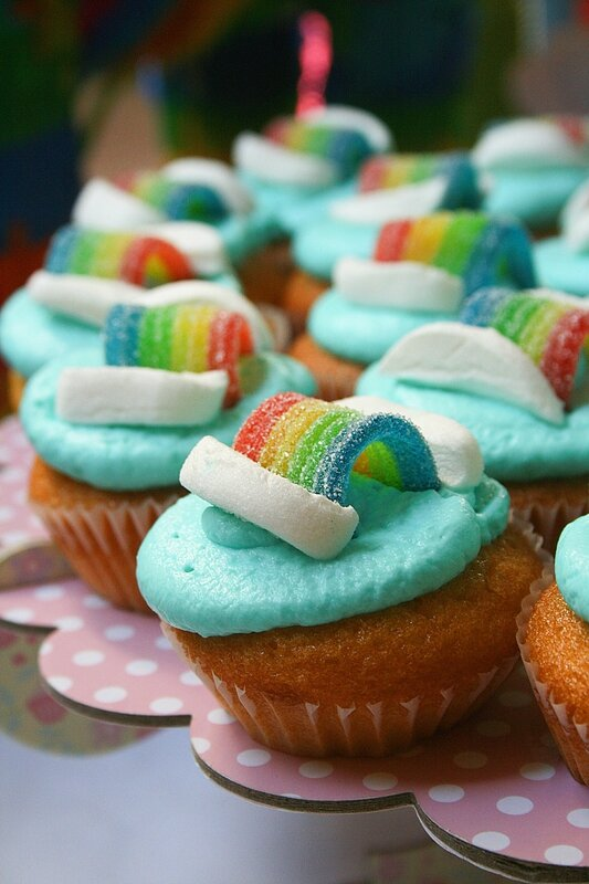 Rainbow cupcakes - cupackes arc en ciel 1-2