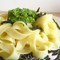 Ptes au pesto de roquettes et pointes d'asperges 