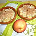 crumble nectarines